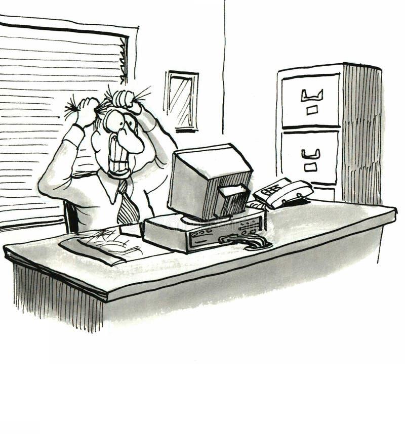 Ordinateur illustration libre de droits