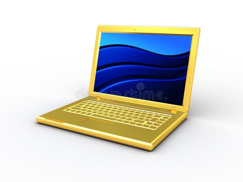 ordinateur d'or illustration stock