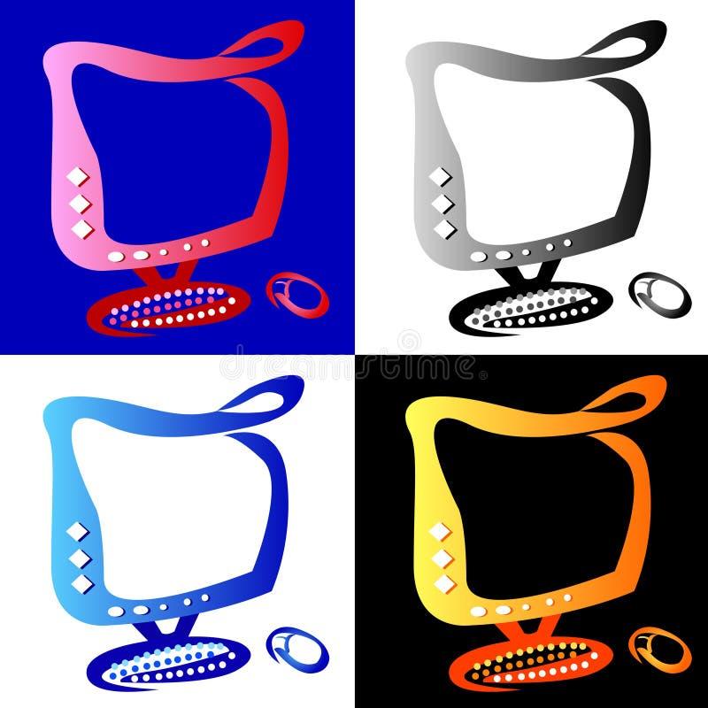 Ordinateur de 4 couleurs photographie stock