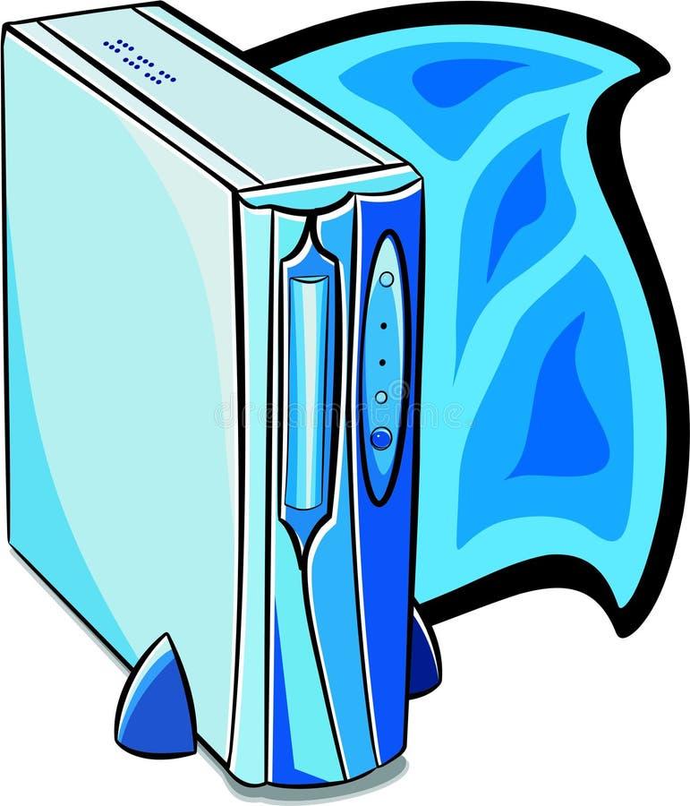 Ordinateur de bureau illustration de vecteur