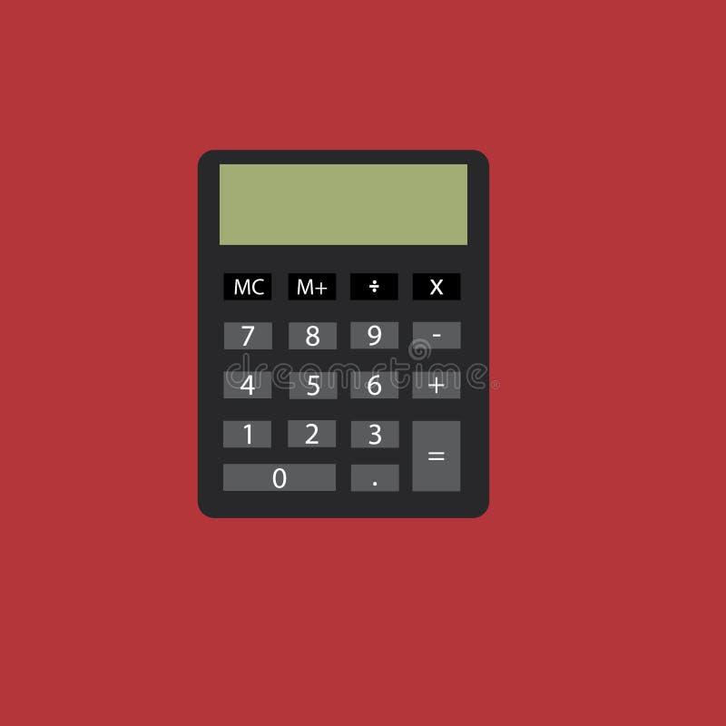 Ordinateur de calculatrice photographie stock