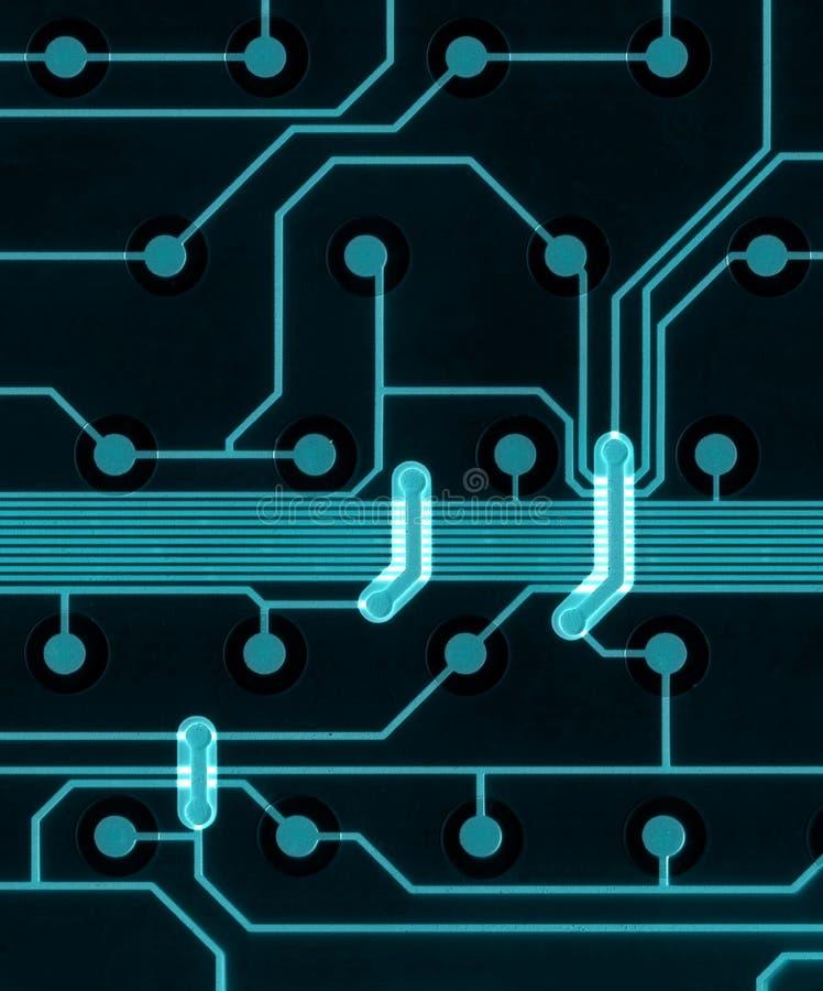 ordinateur de circuit de panneau illustration stock