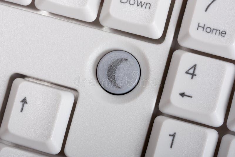Ordinateur de clé de clavier photo libre de droits
