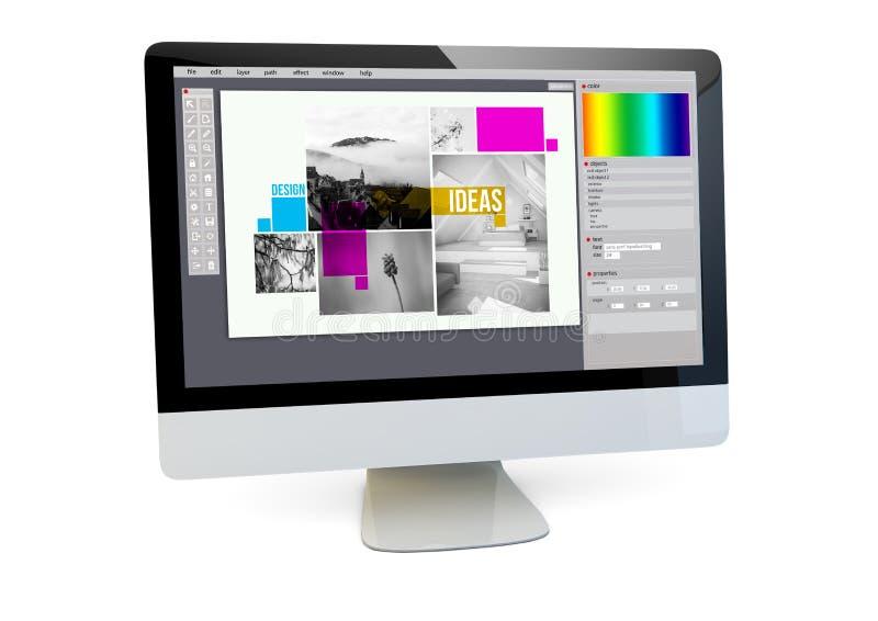 ordinateur de conception graphique photographie stock libre de droits