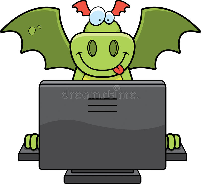 Ordinateur de dragon illustration libre de droits