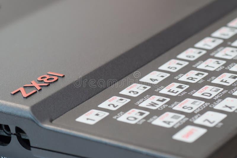 Ordinateur de Sinclair ZX81 photographie stock