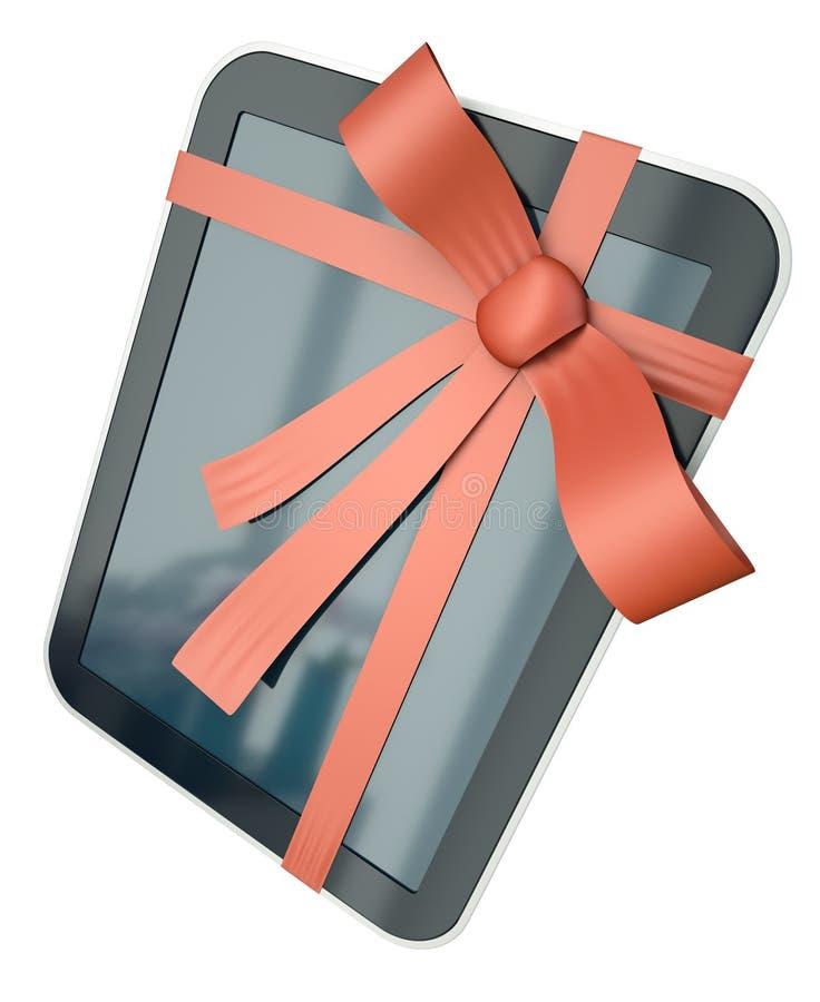 Ordinateur de tablette comme cadeau illustration libre de droits