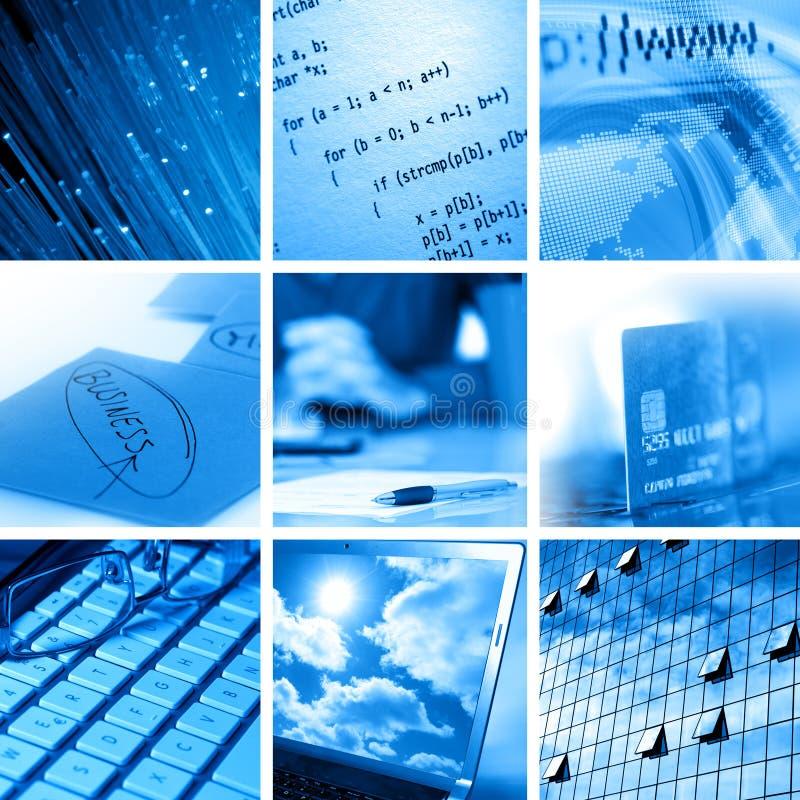 Ordinateur et collage d'affaires photos libres de droits