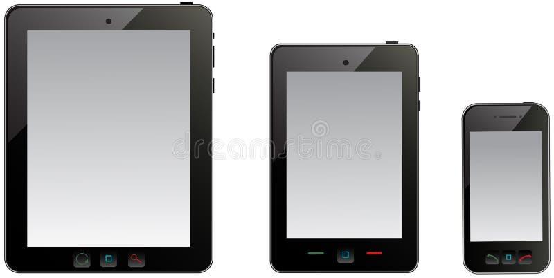 Ordinateur et téléphone portable de tablette illustration libre de droits