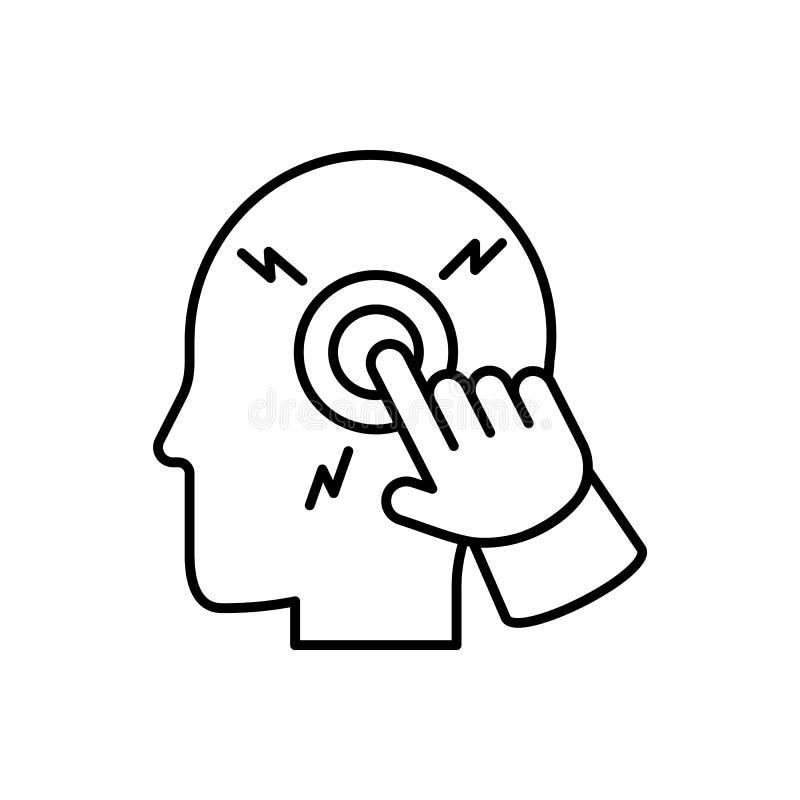 Ordinateur, fermé, intelligent, cerveau, icône d'homme - vecteur Intelligence artificielle illustration de vecteur