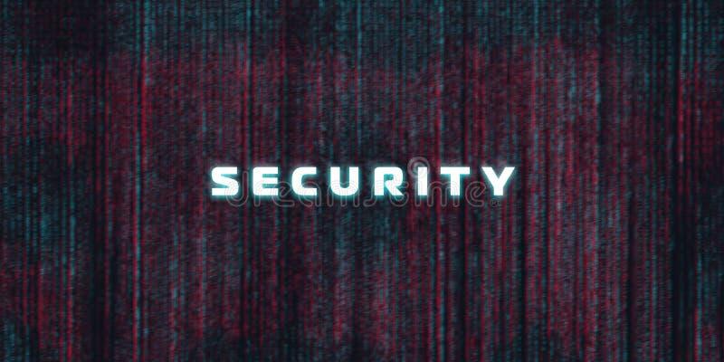 Ordinateur, fond de sécurité de cyber d'Internet, concept de crime de Cyber illustration libre de droits
