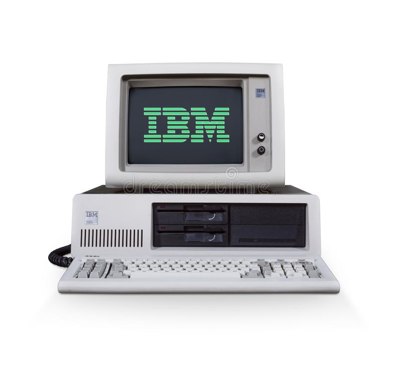 Ordinateur IBM images stock