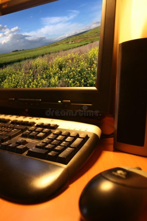 Ordinateur moderne. photographie stock libre de droits