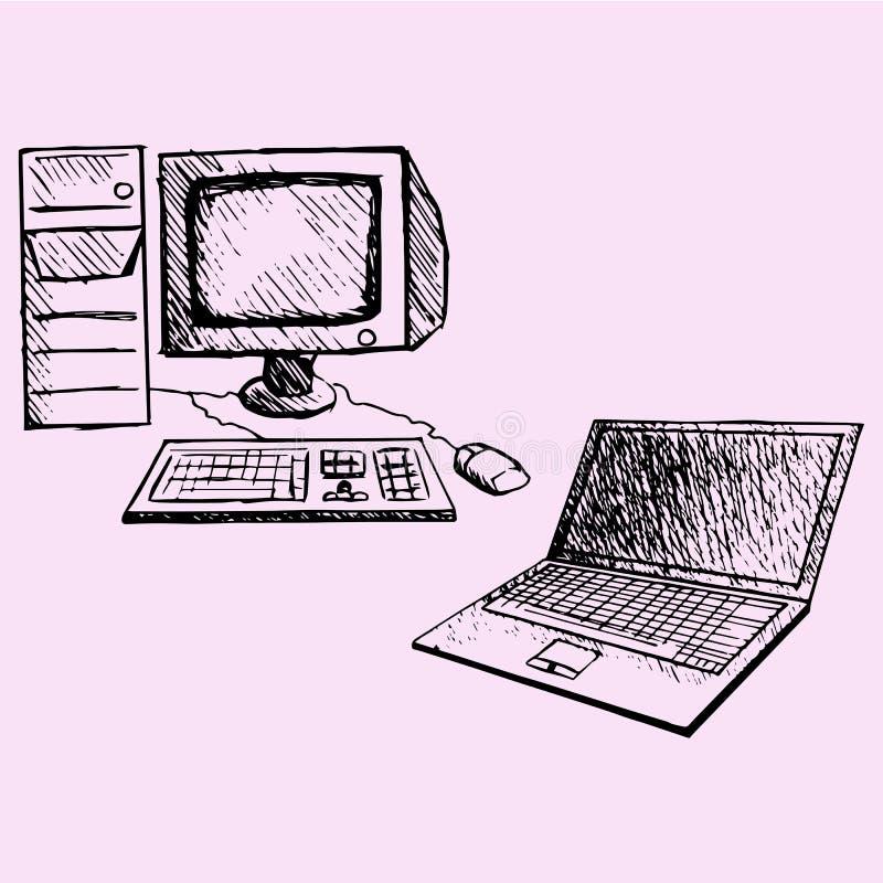 Ordinateur portable d'ordinateur illustration stock