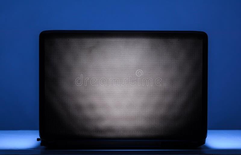 Ordinateur portable la nuit photo libre de droits