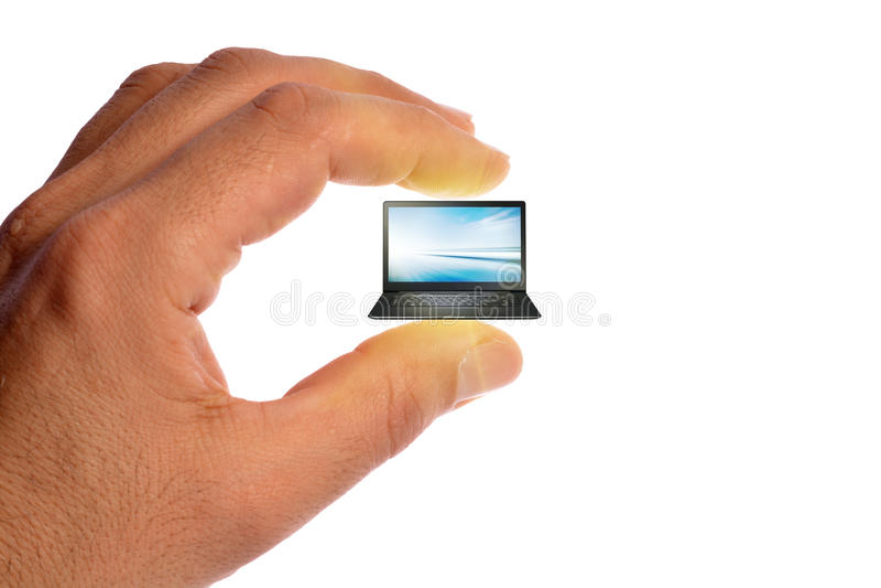 Ordinateur portable micro photos stock