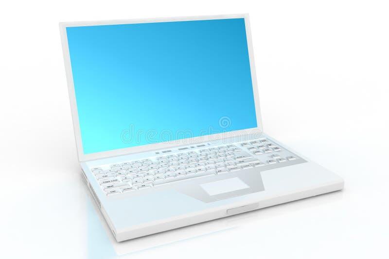 Ordinateur portatif blanc photos stock
