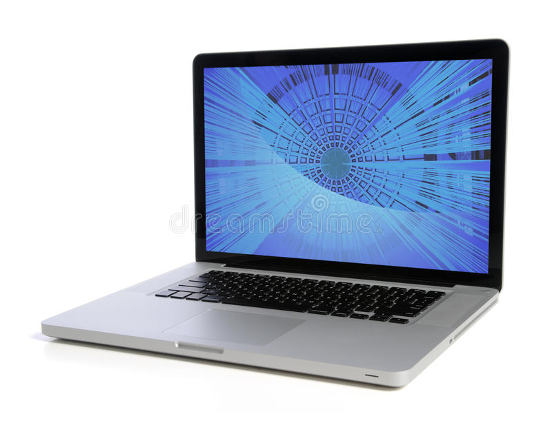 ordinateur portatif d'ordinateur photographie stock