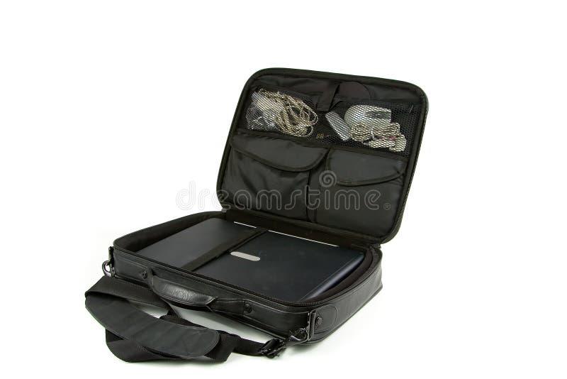 Ordinateur portatif dans un sac photographie stock