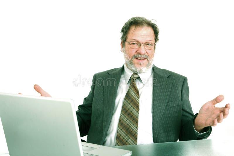 ordinateur portatif de cadre d'affaires photo libre de droits