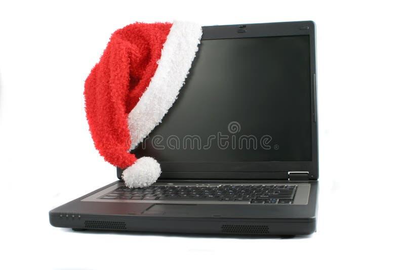 ordinateur portatif de Noël photographie stock