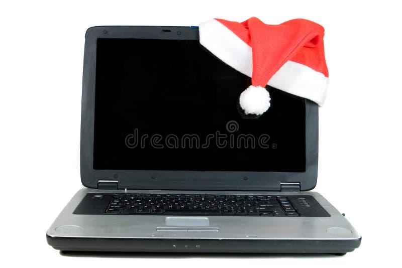 ordinateur portatif de Noël photos stock