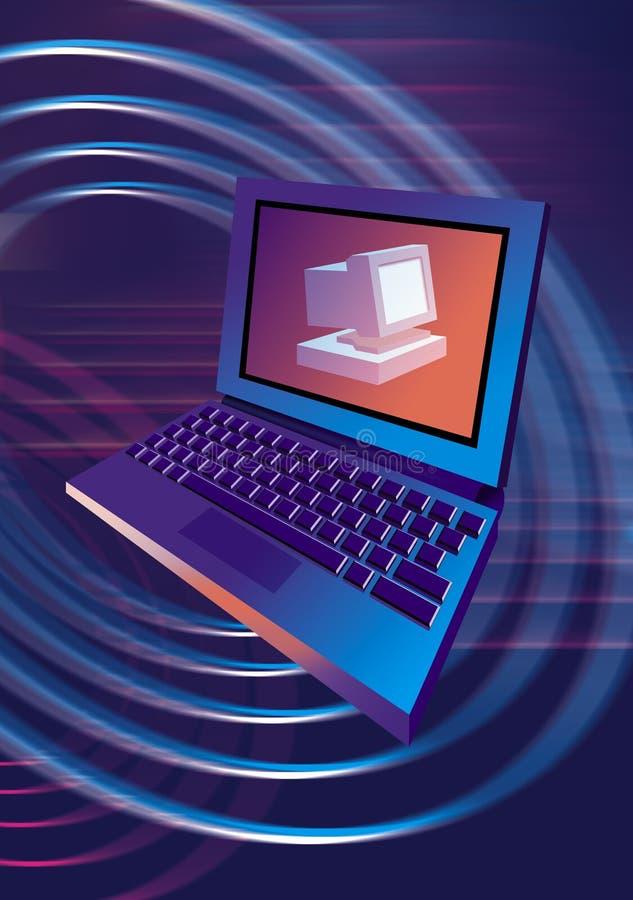 Ordinateur portatif de PC d'ordinateur illustration libre de droits