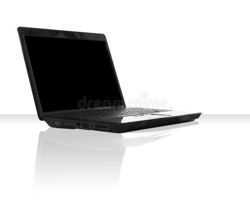 Ordinateur portatif noir image libre de droits