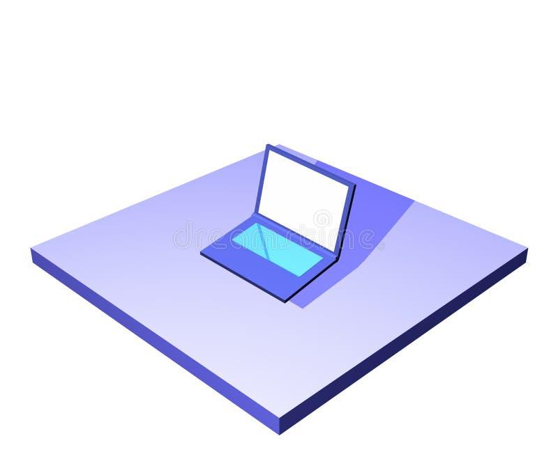 Ordinateur portatif ou cahier - management de chaîne d'approvisionnements Serie illustration libre de droits