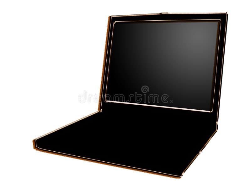 Ordinateur portatif stylisé illustration de vecteur