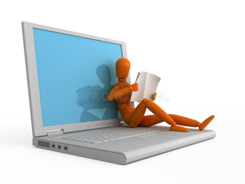 ordinateur portatif votre illustration de vecteur