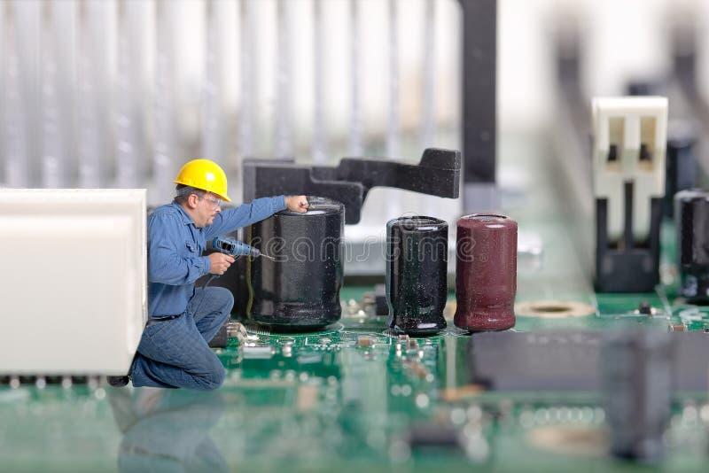 Ordinateur, réparation de l'électronique image stock