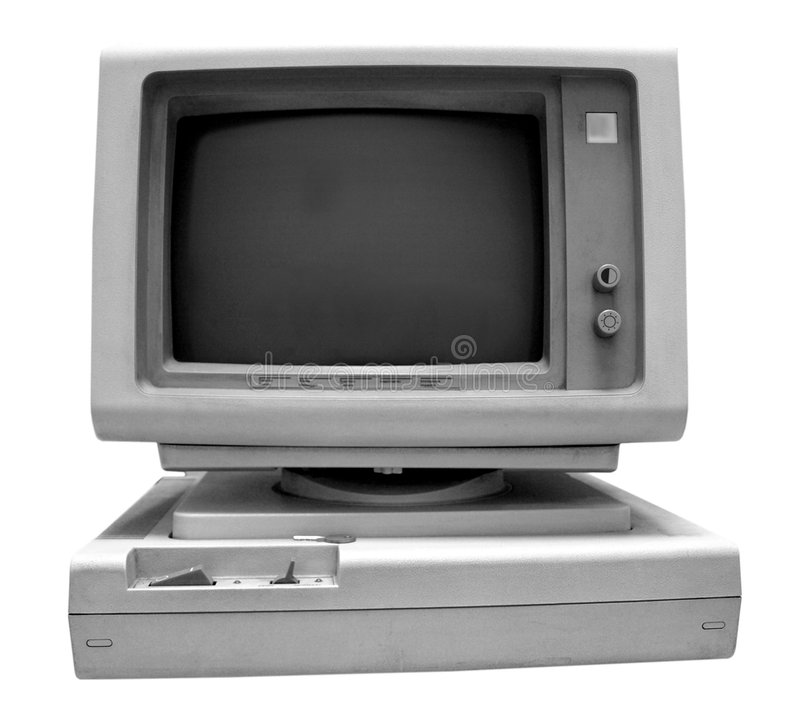 ordinateur vieux photos stock