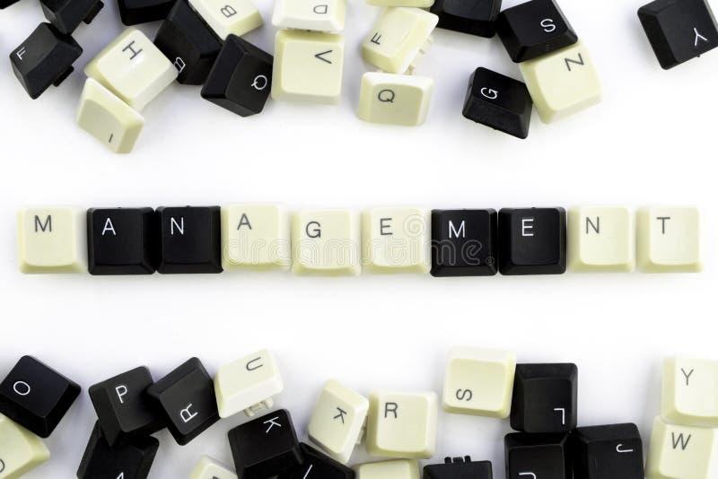 Ordinateurs et informatique dans les industries et les domaines de l'activit? humaine - concept management sur un fond blanc de photo stock