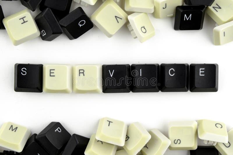 Ordinateurs et informatique dans les industries et les domaines de l'activit? humaine - concept service Le service de mot est pr? photos libres de droits