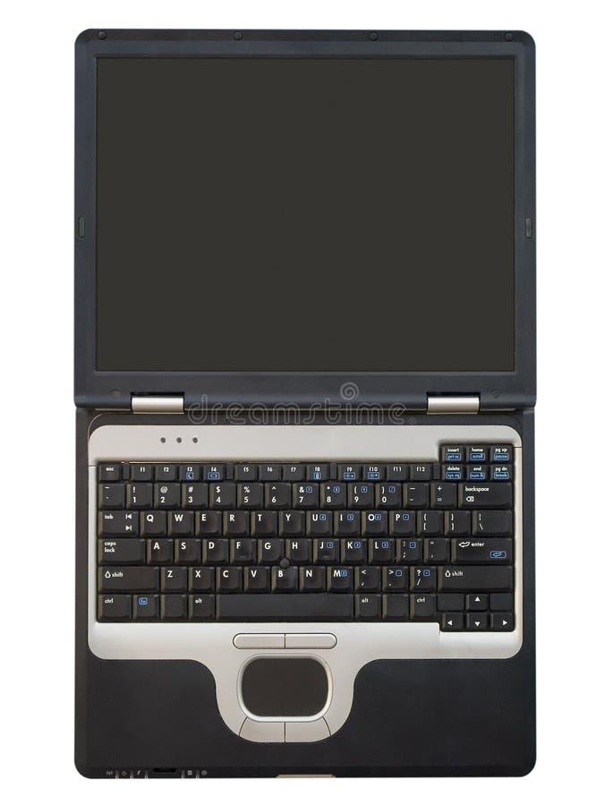 Ordinateurs - ordinateur portatif - écran blanc grand ouvert image libre de droits