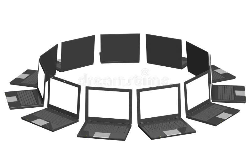 Ordinateurs portatifs illustration stock
