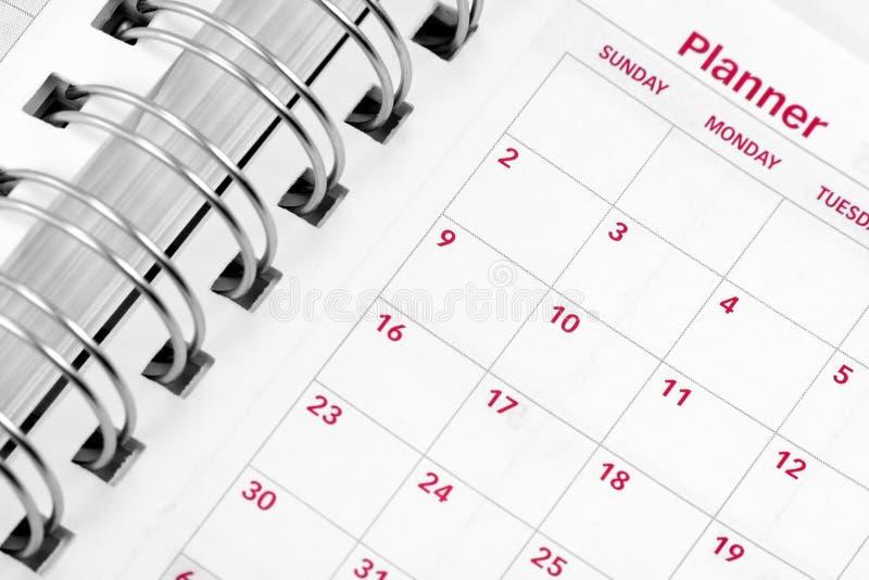 Ordine del giorno aperto fotografia stock libera da diritti