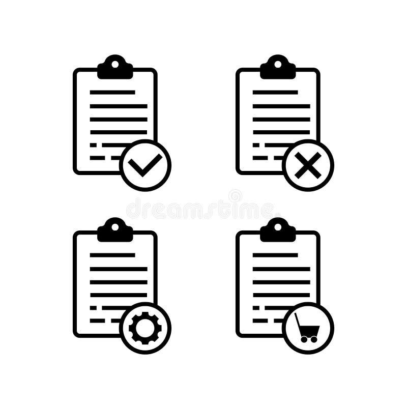 Ordine positivo, negativo, online, liste di manutenzione royalty illustrazione gratis