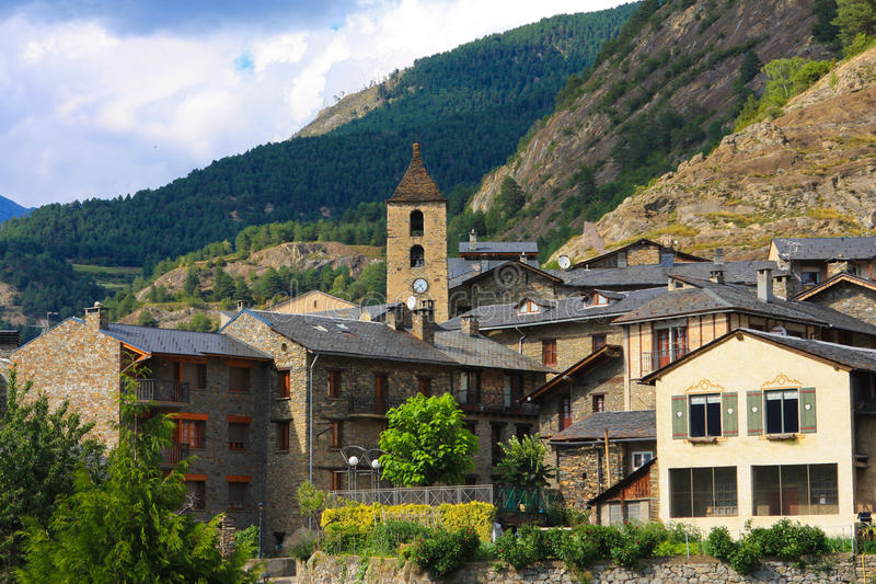 Ordino in Andorra fotografie stock