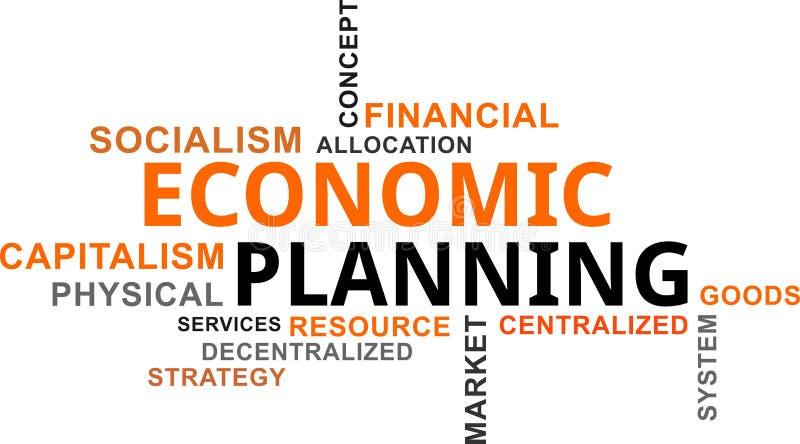 Ordmoln - ekonomisk planläggning royaltyfri illustrationer