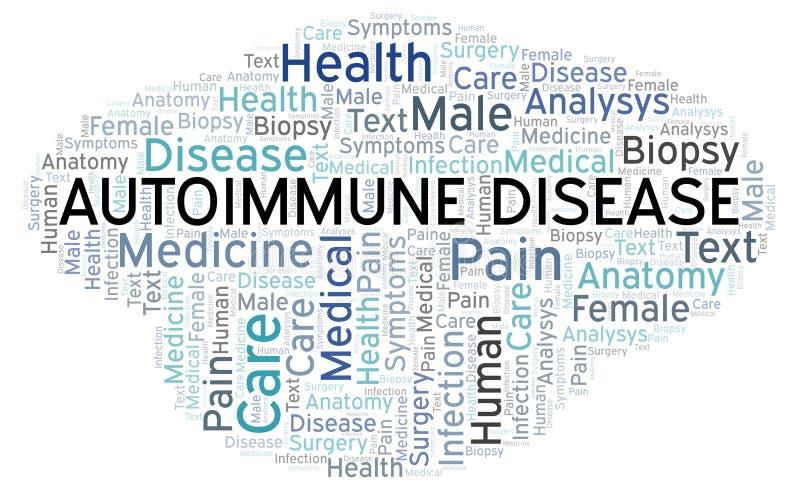 Ordmoln för Autoimmune sjukdom royaltyfri illustrationer