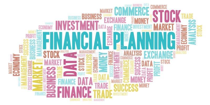 Ordmoln för finansiell planläggning vektor illustrationer