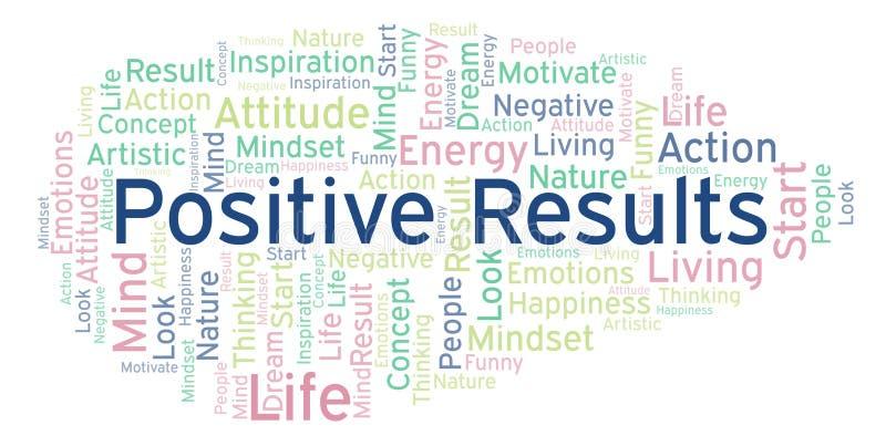 Ordmoln för positiva resultat som göras med text endast royaltyfri illustrationer