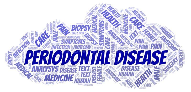 Ordmoln för tandrot- sjukdom stock illustrationer