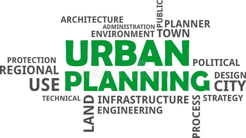 Ordmoln - stads- planläggning vektor illustrationer