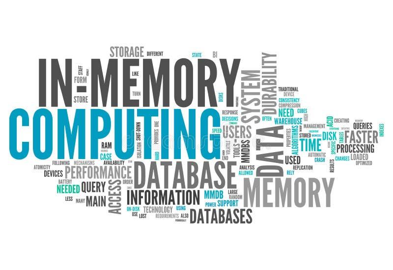 OrdmolnI-minne beräkning stock illustrationer