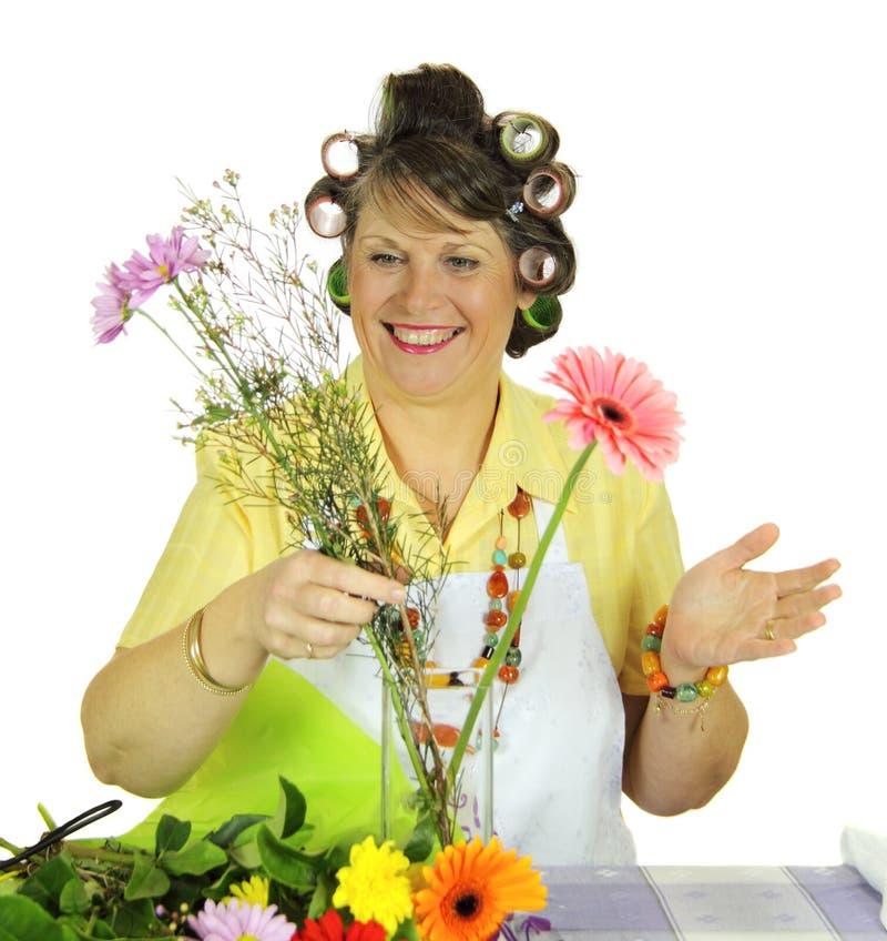 ordna blommahemmafrun arkivfoton