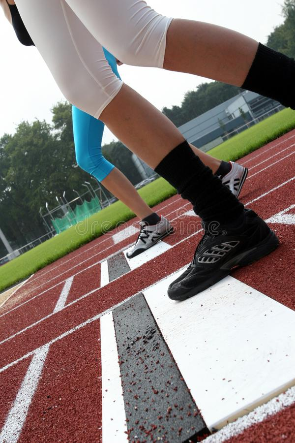Ordna till för att jogga fotografering för bildbyråer
