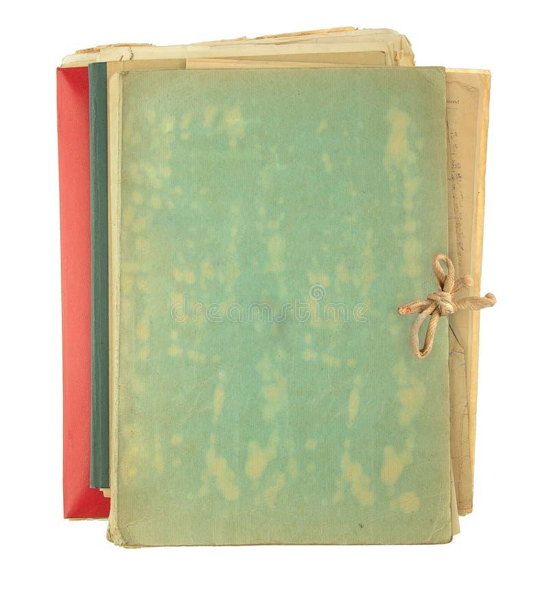 Ordner, der alte Papiere füllt lizenzfreie stockbilder